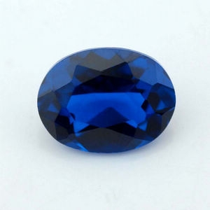 oval cut synthetic blue spinel stone