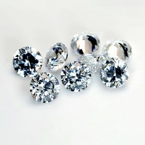 5mm loose white cz stones